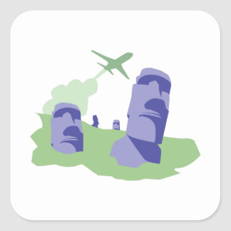 Easter Island Square Sticker