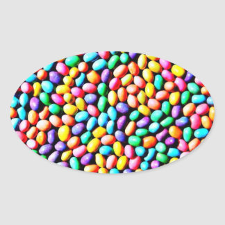 Easter Jelly Beans Oval Sticker