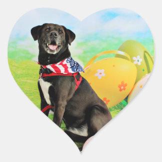 Easter - Labrador - Dakota Heart Sticker