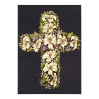 Easter Lily Cross 13 Cm X 18 Cm Invitation Card