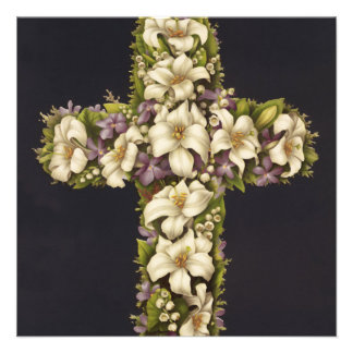 Easter Lily Cross Invites