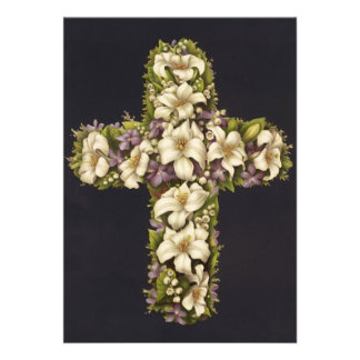 Easter Lily Cross Cards