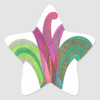 Easter Lily Floral Design Star Stickers