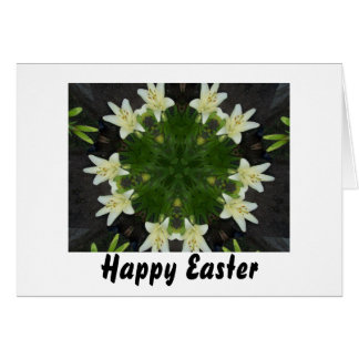 Easter Lily Kaleidoscope Card