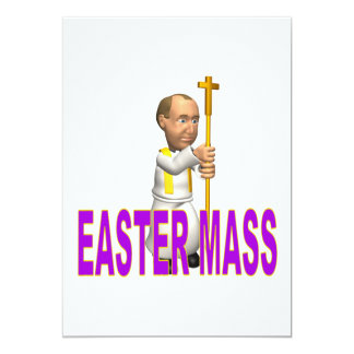 Easter Mass 13 Cm X 18 Cm Invitation Card