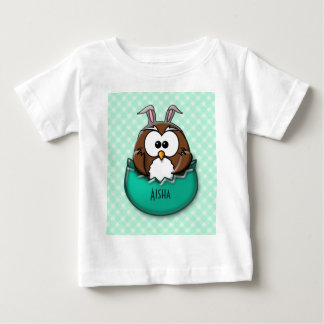 Easter owl - green baby T-Shirt