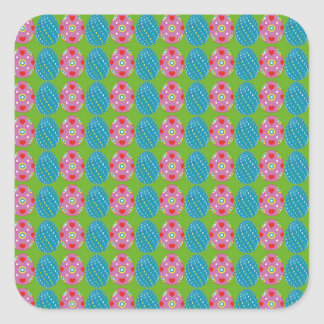 easter paper square sticker