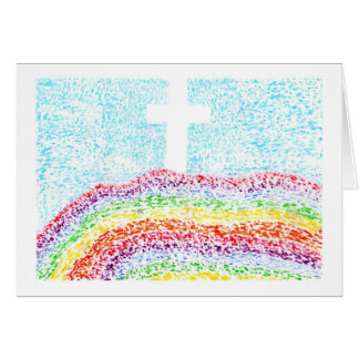 Easter Pointillism the Cross Living Color Card