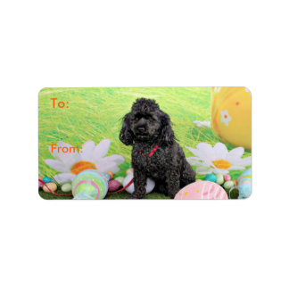 Easter - Poodle - Junior Address Label