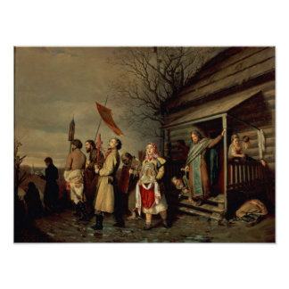 Easter Procession, 1861 Poster