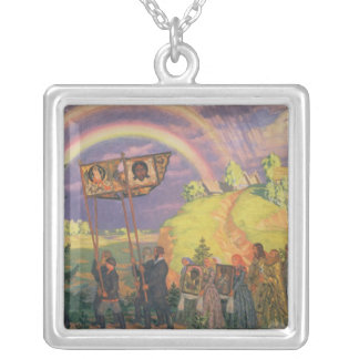 Easter Procession, 1915 Silver Plated Necklace