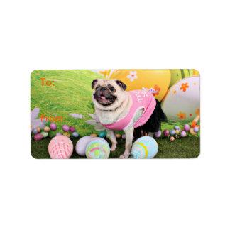 Easter - Pug -Hannah Address Label