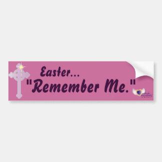 Easter Remember Me-Customize Bumper Sticker