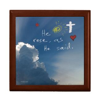 Easter Resurrection He Is Risen Jesus Rose Gift Box