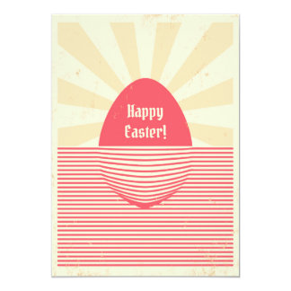 Easter retro poster card
