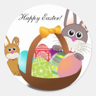 Easter Round Sticker