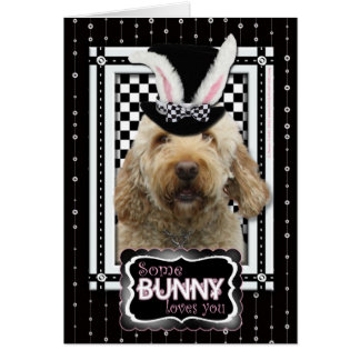 Easter - Some Bunny Loves You - GoldenDoodle Card