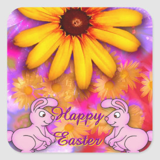 Easter Square Stickers