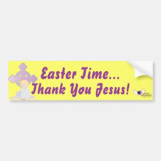Easter Time-Customize Bumper Sticker