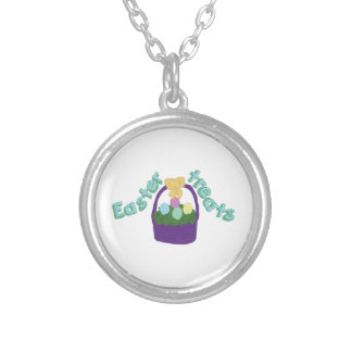 Easter Treats Round Pendant Necklace