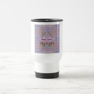 Easter Tulips Viola Rainbow Egg Travel Mug