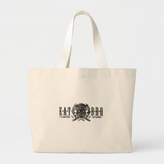 Eat BBQ Worn Light Large Tote Bag