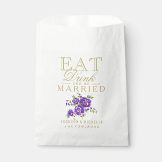 Eat, Drink and be Married - DIY Text Favour Bags
