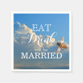 Eat Drink and bee Married Disposable Serviettes