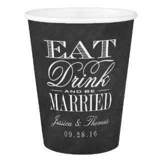 Eat, Drink & Be Married Chalkboard Wedding