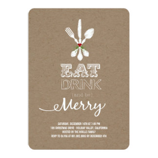 Eat Drink Be Merry Kraft Holiday Party Invite