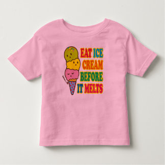 EAT ICE CREAM BEFORE IT MELTS T-SHIRT