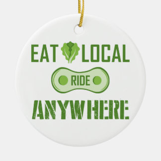Eat Local, Ride Anywhere Christmas Ornament
