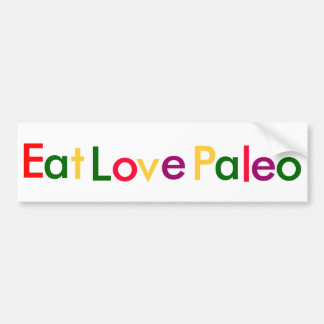 Eat Love Paleo Bumper Sticker