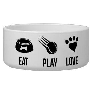 Eat Love Play dog bowl