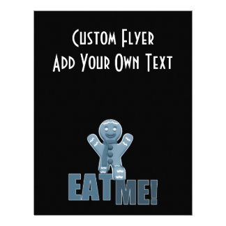 EAT ME Gingerbread Man - Blue Personalized Flyer