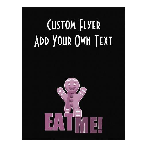 EAT ME! Gingerbread Man - Pink Full Color Flyer