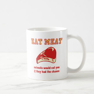 Eat Meat Animals would eat you if they could Mug