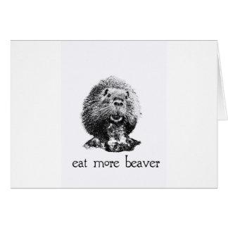eat more beaver greeting card