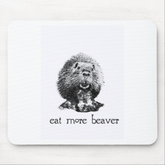 eat more beaver mouse pad