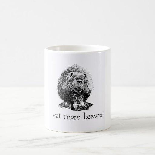 eat more beaver coffee mug