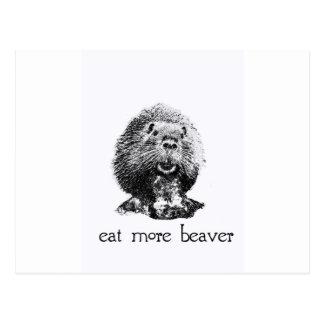 eat more beaver postcard