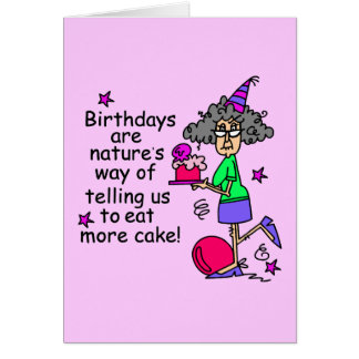 Eat More Cake Birthday Humor Note Card