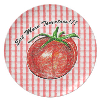 Eat More Tomatoes!!! Melamine Plate