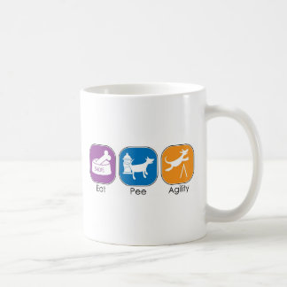 Eat Sleep Agility Pee Coffee Mug