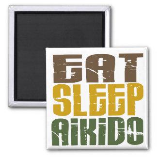 Eat Sleep Aikido 1 Square Magnet