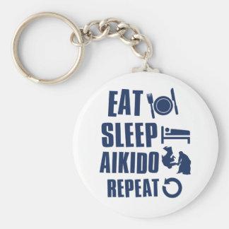 Eat Sleep Aikido Key Ring