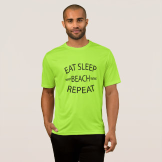 Eat Sleep Beach Repeat Summer Beach Tshirt