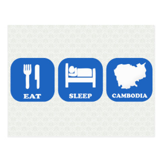 Eat Sleep Cambodia Postcard