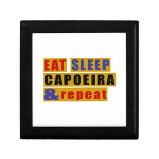 EAT SLEEP CAPOEIRA AND REPEAT SMALL SQUARE GIFT BOX