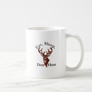 Eat, Sleep & Deer Hunt! Basic White Mug